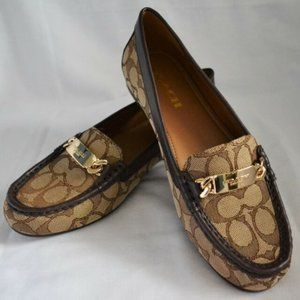 NWT COACH Classic Jacquard Loafers size 10